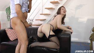 Pretty girl Nadya's big butt shakes as she enjoys a fang ride