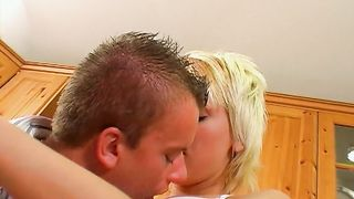 Gorgeous blonde princess Luna is gently and thoroughly sucking lover's rock hard cock