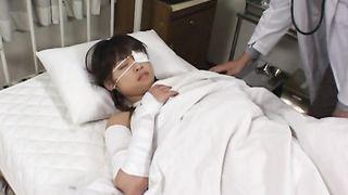 Pussy tester destroys passionate cutie Asuka Sawaguchi's petite vagina