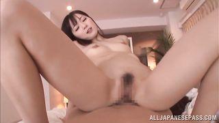 Racy girlie Yuu Asakura likes riding dude