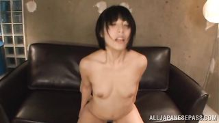 Male fucked hard a marvelous Nomiku Abe from behind because she asked for it