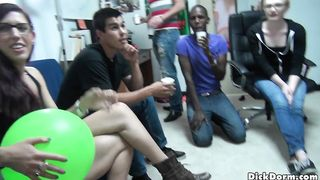 Drunk college party with guy banging his gay best friend in tight anal