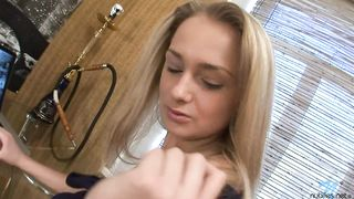 Lascivious blond Vania receives a pulsating wang in her wet slit
