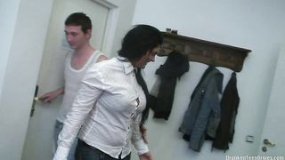 Nasty playgirl Sofia has sex with her talented guy