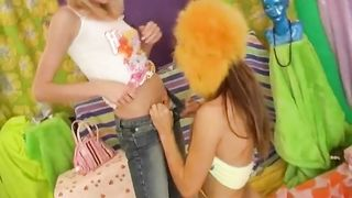 Lesbian sex with teen Eva using toys homemade xxx video