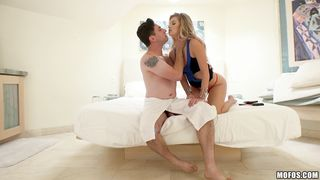 Luxurious gf Arya Fae widen her legs wide open and got drilled
