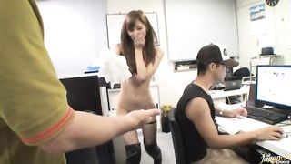 Enchanting Chika Eiro has her trimmed cave fingered and banged with effort