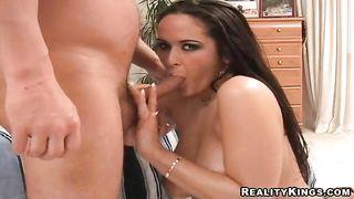 Remarkable Carmella Bing gets a finger fucking after stroking stiff prick