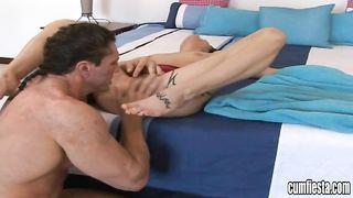 Sexual Laylynn eagerly takes a big slim jim