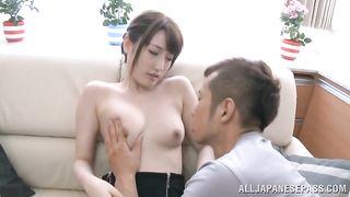 Slender gal Karin Aizawa wants to feel pole inside her until she cums
