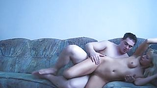 Ambitious hottie Polina loves to ride stick in the rhythm of waves